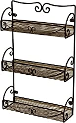 decorative 3-tiered spice rack, a great kitchen gift for mom