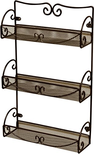 DecoBros 3 Tier Wall Mounted Spice Rack Bronze