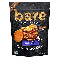 Bare Baked Crunchy Sweet Potato Chips, Sea Salt, Gluten Free, 1.4 Ounce Bag, 8 Count
