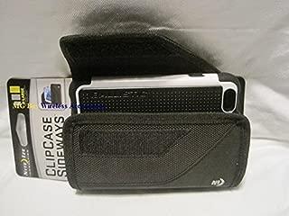 Nite Ize Black Extended Sideways Horizontal Rugged Heavy Duty X-large Cover Case W/Durable Fixed Belt Clip Fits Apple Iphone 6 Ballistic Maxx Tough Jacket