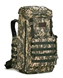 4land Large Hiking Backpack, 65L/70L/85L Waterproof MOLLE Rucksack, Expandable Camping Traveling...