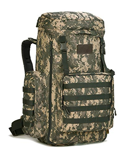 Large Hiking Backpack, 65L/70L/85L Waterproof MOLLE Rucksack, Expandable Camping Traveling Military Daypack for Men