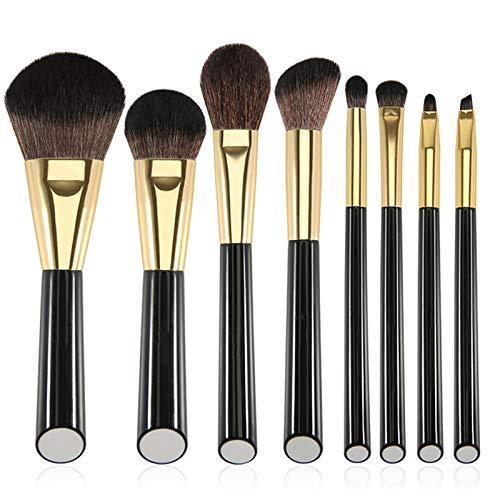 Amazon Brand - Eono Make-up-Pinsel-Set, 8-teilig, für Grundierung, Gesicht, Lidschatten, Highlighter, Konturpinsel, perfekt für Reisen, Make-up-Pinsel-Set, goldfarben