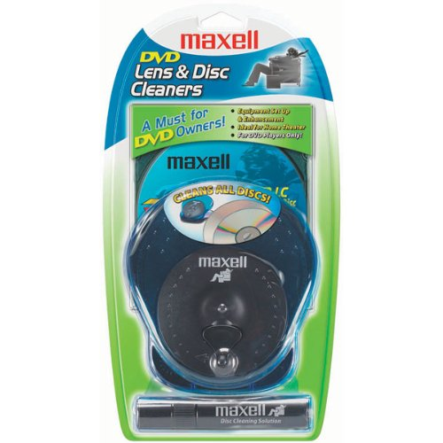 Maxell DVD-325 DVD Lens Cleaner and Disc Cleaner
