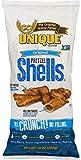 Unique Pretzels - Original Pretzel Shells, Delicious Vegan Snack Pretzels Individual Pack, Large OU Kosher Pretzels, 10 Oz Bags, 6 Pack