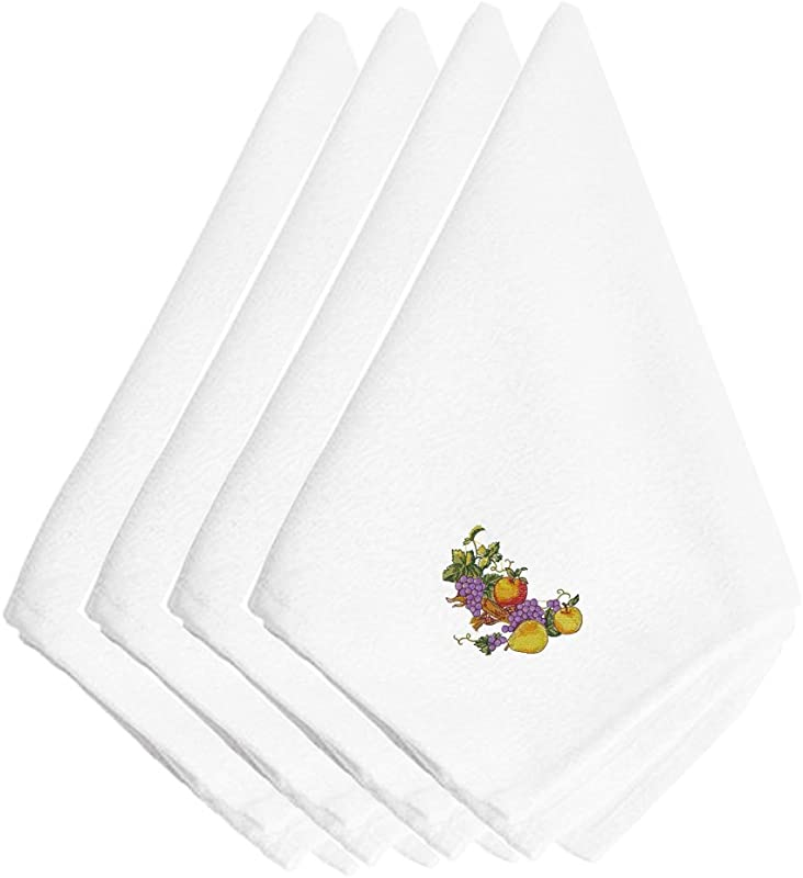Caroline S Treasures EMBT3503NPKE Thanksgiving Spray Embroidered Napkins Set Of 4 20 Multicolor