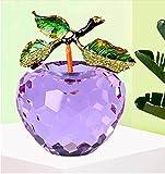 HUANSUN 80mm Crystal ChristamsGlass Fruit Crafts Regalos Art & amp; Collection Souvenir Home Wedding Decoration, Purple