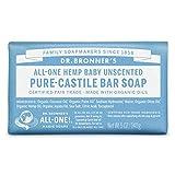 Dr. Bronner's 744 - Pure-Castile Bar Jabón para Bebé, sin Perfume, 5 oz/140 gr
