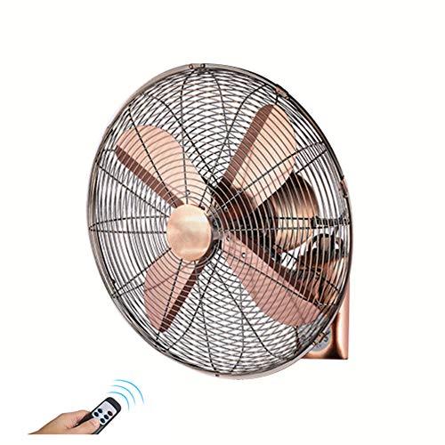 Ventilador De Montaje En Pared Retro, Ventiladores Mecánicos para El Hogar, con Control Remoto, Adecuado para Interiores Y Exteriores, Ahorro De Energía De 50 Vatios