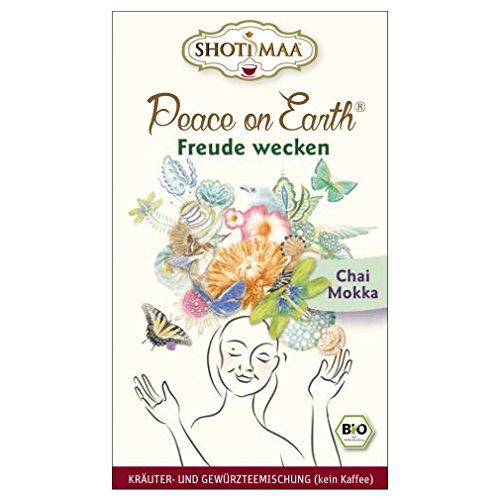 6 x Shoti Maa Bio Tee Peace on Earth   Freude wecken   Chai Mokka   Gewürz- und Kräutertee   Ayurveda Tee   6 x 16 Teebeutel (96 Teebeutel)