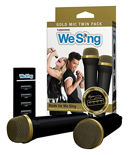 THQ Nordic We Sing Gold Top Microphone 2-Mic Bundle - PlayStation 3/2/1