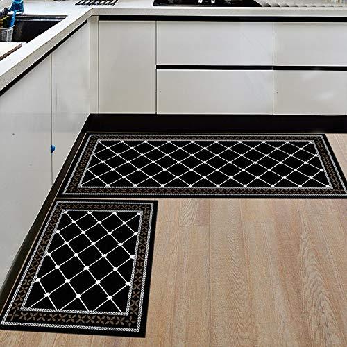 HLXX Alfombra de Cocina Moderna, Felpudo de Entrada para Dormitorio, patrón, decoración de Suelo para el hogar, Alfombra para Sala de Estar, Alfombra Antideslizante para baño, A3 40x120cm
