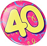 Beistle Jumbo 40 Button Birthday Party Supplies, Costume Accessory, 6', Pink/Yellow/Blue/Green