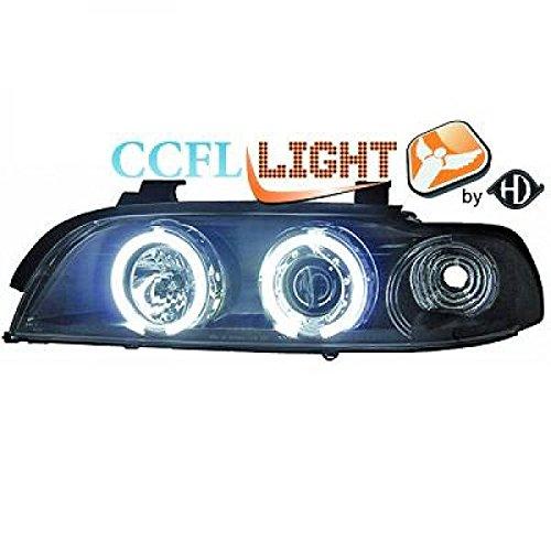 in. pro. 1024680 haute définition Head Set LED Angel Eyes avec 2 anneaux, noir transparent