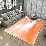 Pgron Alfombra Salón Impresión Minimalista Abstracta Naranja Alfombra para Decoración Interior,120×160cm