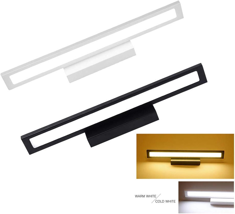 SHELLTB Schwarz LED Bad Kosmetikspiegel Licht Wand Montiert Kommode Lampe Moderne Innendekor Leuchte 40 60 80 100 cm,WarmWeiß,24W100CM