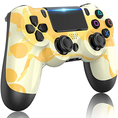 PS4 Controller Wireless,GOLDJU Gamepad Controller for Playstation 4,with Dual Vibration/Stereo Headset Jack/Touch Pad/Six-axis Motion Control,Compatible with PS4/Slim/Pro Console