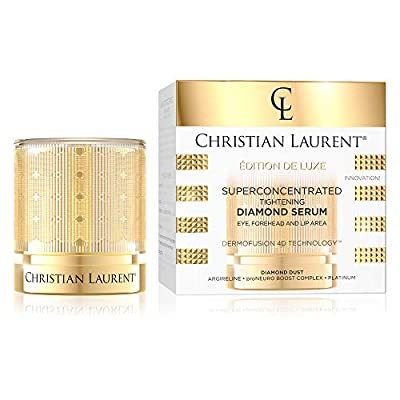 Christian Laurent Super Concentrated Diamond Tightening Serum | 30 ML | Eye, Forehead and Lip Area | Anti-aging Anti-wrinkle Cream | Dermofusion Technology 4d by Eveline Cosmetics
