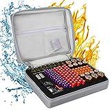 Boîte de rangement de batterie pour 148 piles, sac de transport étanche AA-AAA C D 9 V (piles et testeur de...