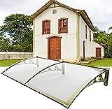 Tendalino per porta d'ingresso, veranda per veranda Tendalino per pioggia in policarbonato Decorazione per esterni Tettuccio per tetto di protezione contro la pioggia e la neve con staffa in allu