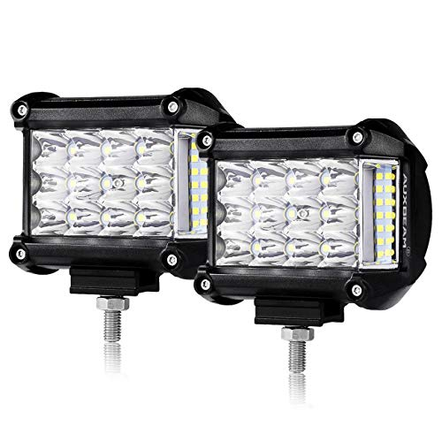 Auxbeam 4' Side Shooter LED Pods 19W 2Pcs LED Light Bar Off Road Light Pods with 19pcs 1w Led Chips Spot Flood Combom Beam (Pack of 2)