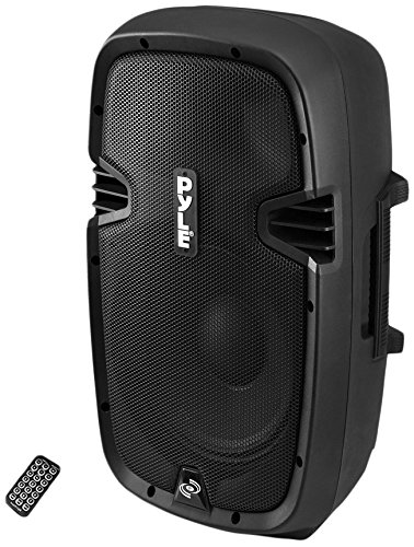 Best Bargain Powered Bluetooth PA Microphone System - 15 Active Bass Subwoofer Loudspeaker Built-in...