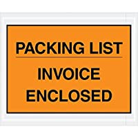 Top Pack Supply Tape LogicPacking List/Invoice Enclosed Envelopes 4 1/2 x 5 1/2 Orange (Pack of 1000) [並行輸入品]