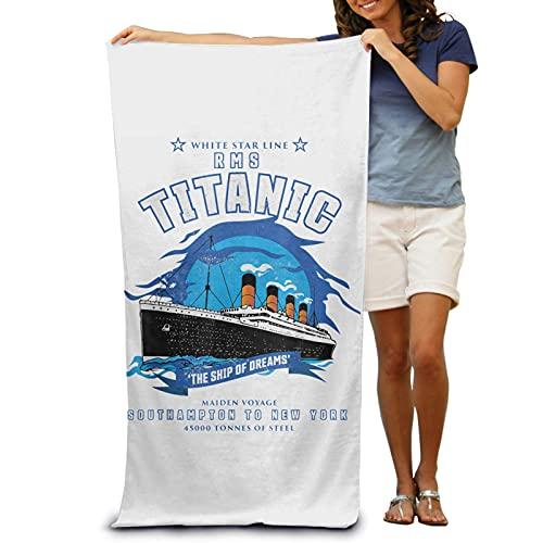 IUBBKI Handtuch Titanic Beach Towel Portable Beach Towel Absorbent Pool Towel Adult Beach Children Sand-Proof Beach Towel.