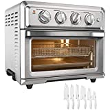 Cuisinart TOA-60 Convection Toaster Oven Air Fryer with Light Stainless Steel Bundle Exclusive 12 Pc White Advantage Knife