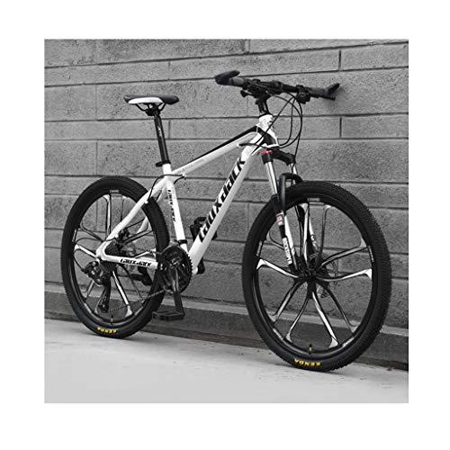 Mountain Bike Da 26 Pollici A 21 Velocità Per Adulti Da Bicicletta Per Studenti All'aperto, Bici Hardtail Con Doppio Freno A Disco, Sedile Regolabile, Telaio In Acciaio Al Carbonio MTB Bicic(Color:D)