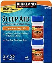 Kirkland Signature Nighttime Sleep Aid (Doxylamine Succinate 25 Mg), 96 Tablets (Pack of 4)