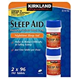 Kirkland Signature Sleep Aid Doxylamine Succinate 25 Mg 2 Bottles X 96 Tabs
