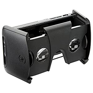 Speck Products Pocket VR Virtual Reality Headset Plus CandyShell Grip Samsung Galaxy S7 Case - Retail Packaging - Black