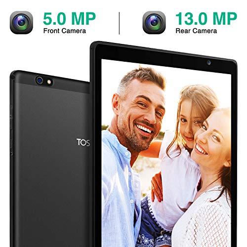 Tablet 10 Zoll 5G WiFi - TOSCIDO Android 10.0,1920x1200 HD IPS,Octa Core,64GM eMMC,4GB RAM,13MP & 5MP Kamera,WiFi/Bluetooth5.0/GPS,6000 MAh,Type-C - Schwarz