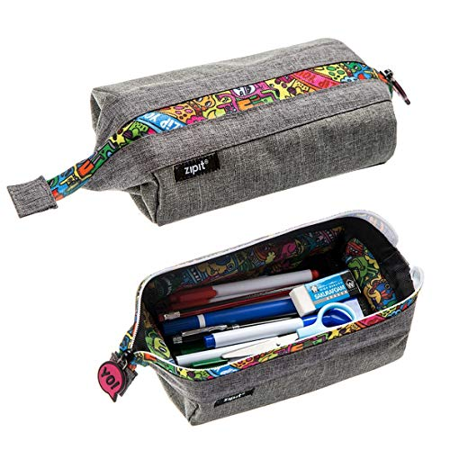 ZIPIT Lenny Pencil Case, Grey