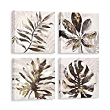 ORA Canvas Wall Art 4 Piece 12X12 Framed Picture Set for Gold Wall Decor (Autumn Leaves) Modern Wall Canvas Prints for Bedroom Living Room Dining Room Kitchen Bathroom