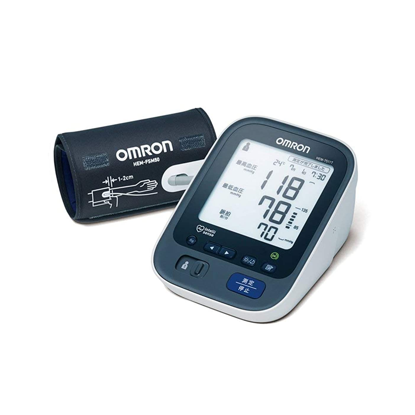 インタフェース廃止する警戒オムロン 上腕式血圧計 HEM-7511T-N