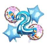 Globos del cumpleaños 5pcs / Set Día Pocoyo Globos Foil Globo de Niños Fuentes de la Ducha del bebé de cumpleaños Fiesta al Aire Globos Decoración Globos Juguetes