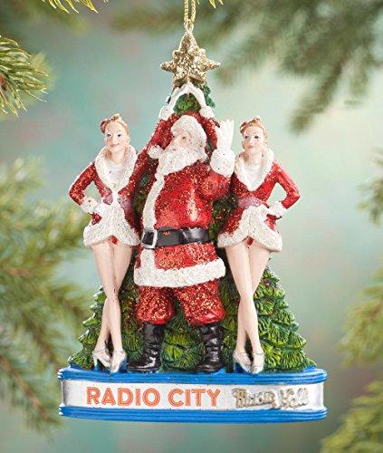 Kurt Adler Radio City Rockettes with Santa and Tree Christmas Ornament
