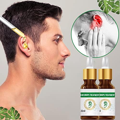 Tratamiento De Gotas Para Aliviar El Zumbido Del Oído, Gotas Naturales Para El Tratamiento De Infecciones Del Oído, Gotas Para El Oído Con Remedio Para El Zumbido Del Oído 2 Piezas