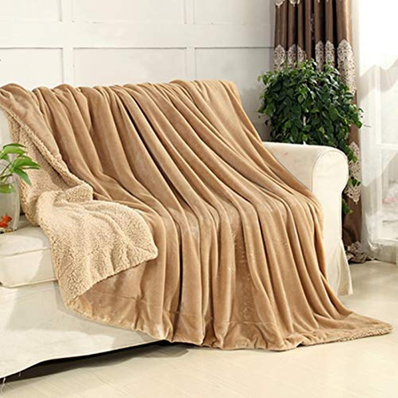 Mjdynasty Decke Falais Verdicken Plüsch Plüsch Plüsch Decke Composite Decke Warm und Freizeit, Kamel, 100  120 B07G89L1J7  Geeignet für Farbe c463fa