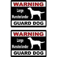 Yang1995 15×11.5センチメートル漫画警告大型番犬楽しい再帰反射ステッカー車の窓のステッカー
