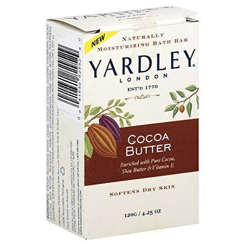 Yardley Bar hydratantes Beurre de cacao 4,25 oz (Paquet de 9)