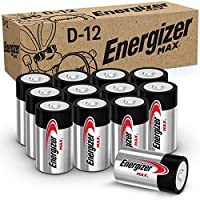 12-Count Energizer Max Premium Alkaline D Cell Batteries
