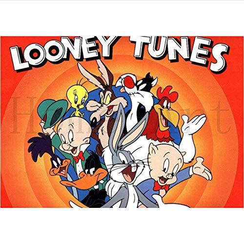 Looney Tunes Poster Imagen Clara Pegatinas De Pared Decoración del Hogar Impresiones Home Art Canvas Painting 50 × 70Cm Sin Marco