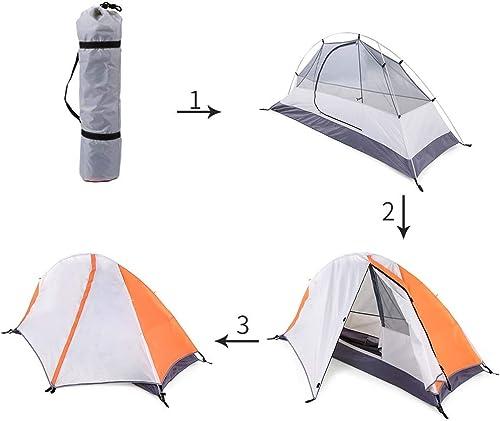 Tente de camping tente de prougeection en plein air extérieur de la tente de plage hangar détachable double tente de couchage imperméable à l'eau 2 personnes