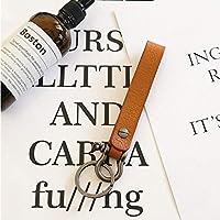 本革キーホルダービジネスマンベルトバックルキーチェーンオートアクセサリーギフトカーキーホルダーのために (Color : Brown, Size : Free)