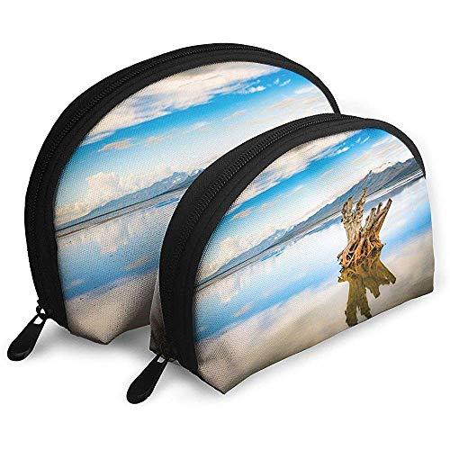 Great Salt Lake Tragbare Taschen Kosmetiktasche Kulturbeutel, Tragbare Multifunktions-Reisetaschen Kleine Make-up-Clutch-Tasche mit Reißverschluss