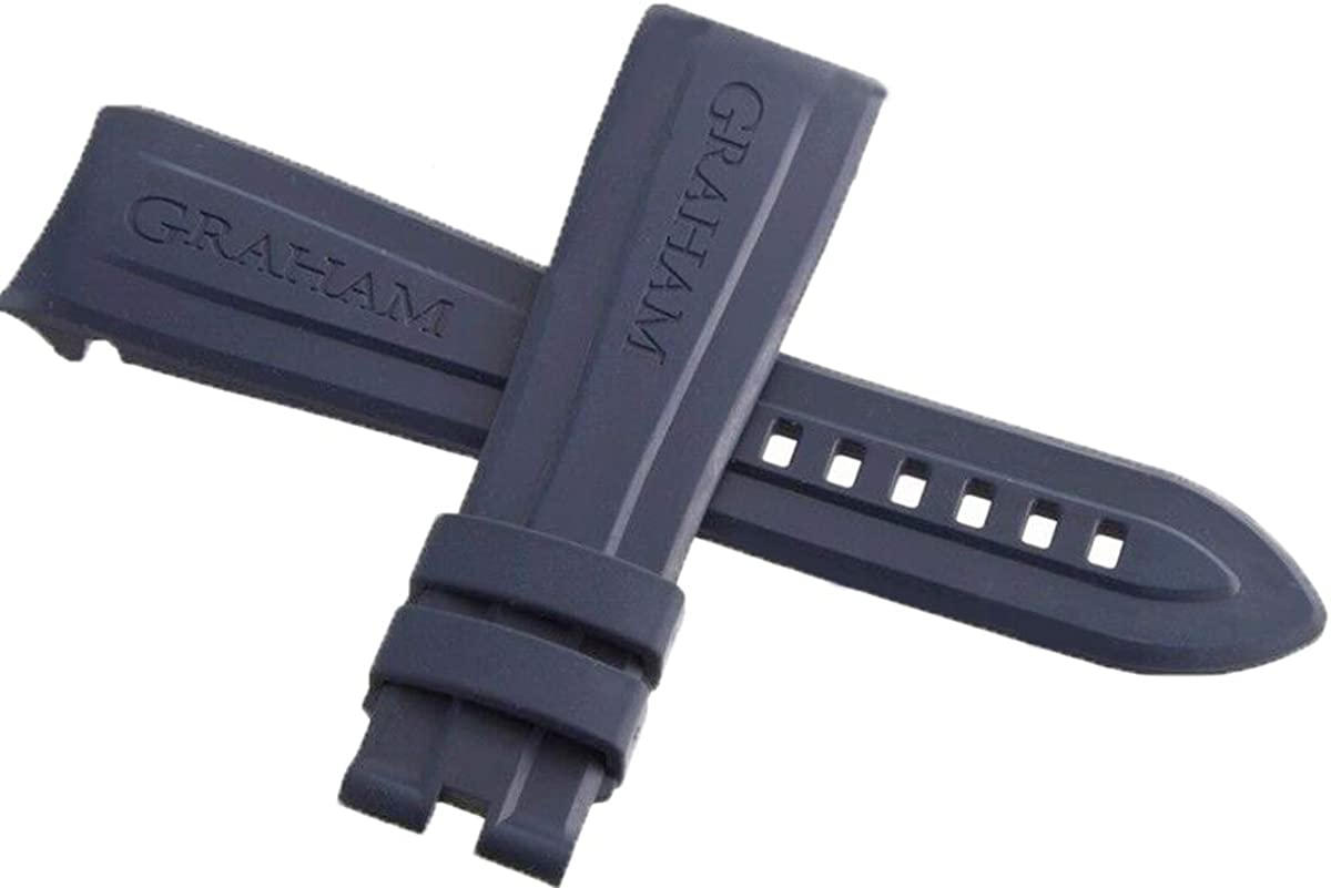 OEM Graham Blue Al sold out. CHRONOFIGHTER Rubber Strap 24mm 20m Watch Band New color x