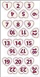 Youdoit 24 Figuras corazón de Fieltro